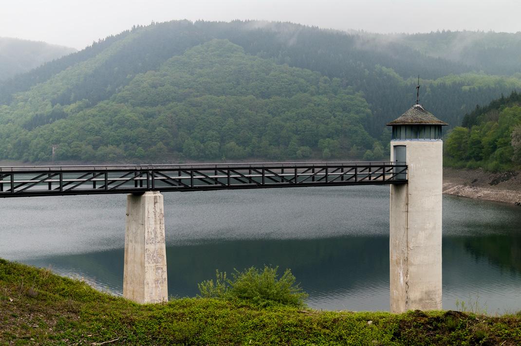 Eifel Wandern Blick auf den Urftstausee im Nationalpark Eifel