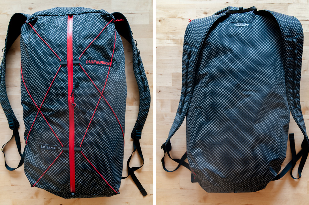 PACKsack von Laufbursche Gear ein Ultralight Outdoor Equipment
