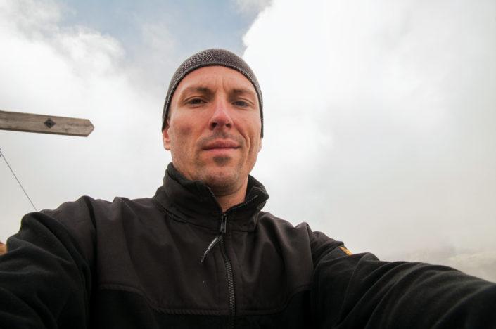 Gipfel Selfie auf der Kempspitze