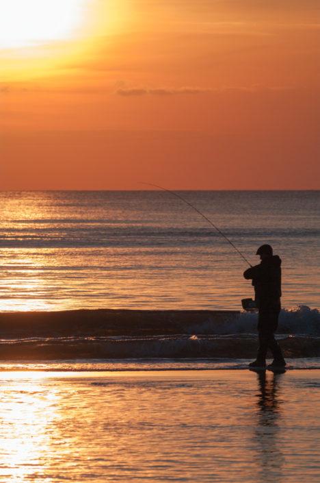 Foto Adventskalender, Fliegenfischer, Meer, Dänemark