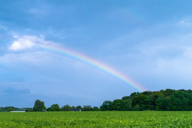 Foto Adventskalender, Regenbogen, Mülheim an der Ruhr, Grüne Felder