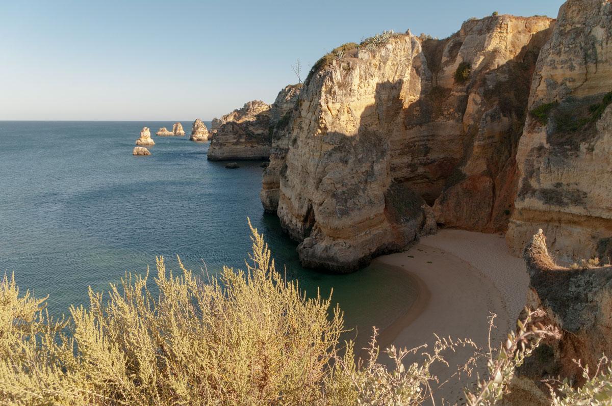 Foto Adventskalender,Praia da Dona Ana Algarve, Portugal