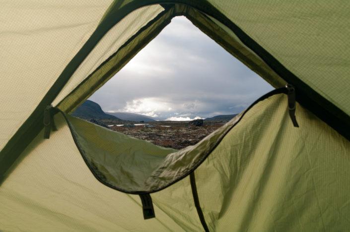 Foto Adventskalender, Trekking, Dovrefjell National Park, Norwegen, Zeltblick