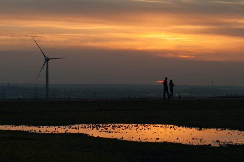 Adventskalender, Halde Hoheward, Sonnenuntergang, Ruhrgebiet