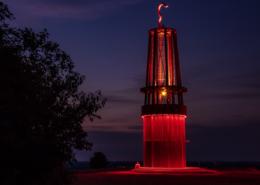 Das Geleucht Grubenlampe in Moers Landmarke Industriekultur